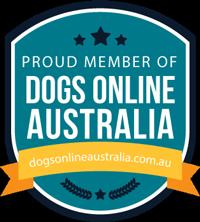 member of dogs online australia badge